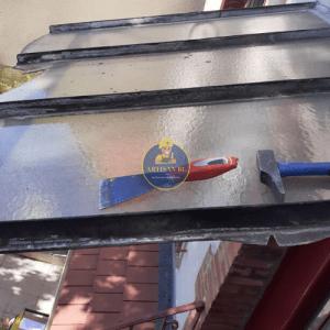 Remplacement vitrage verrière à motif le 10/05/2020 à Châtillon (AVANT)